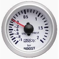 Compteurs & Manos Manometre Pression turbo - fond blanc - diametre 52mm