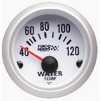 Compteurs & Manos Manometre Temperature eau - fond blanc - diametre 52mm