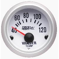 Compteurs & Manos Manometre Temperature eau - fond blanc - diametre 52mm Generique