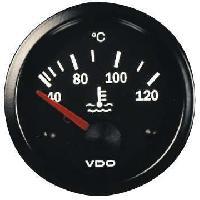 Compteurs & Manos Manometre Temperature eau - fond noir - Diametre 52mm