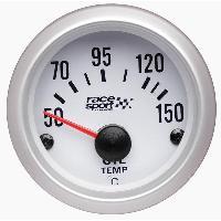 Compteurs & Manos Manometre Temperature huile - fond blanc - diametre 52mm Generique