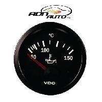 Compteurs & Manos Manometre Temperature huile - fond noir - Diametre 52mm