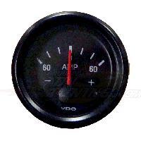 Compteurs & Manos Manometre amperemetre Vision - fond noir - Diametre 52mm - 60A