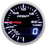 Compteurs & Manos Manometre de pression de turbo a Led RSP - D.52mm Generique