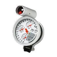 Compteurs & Manos Manometre multi fontion shift light - fond blanc - diametre 52mm Generique