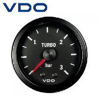 Compteurs & Manos Manometre pression Turbo mecanique - 0-3b - fond noir - Diametre 52mm