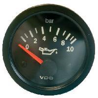 Compteurs & Manos Manometre pression huile - 0-10b - fond noir - Diametre 52mm