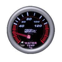 Compteurs & Manos Manometre temperature eau - Mirror look - Fond noir - Diametre 52mm Generique