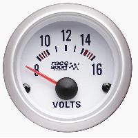 Compteurs & Manos Manometre voltmetre - fond blanc - diametre 52mm