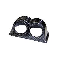Compteurs & Manos Support 2 manometres - look carbone - diametre 52mm