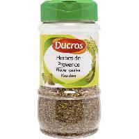 Condiments - Sauces - Aides Culinaires DUCROS Herbes de Provence - Grand flacon - 120 g
