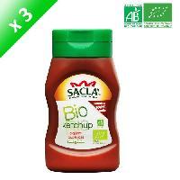 Condiments - Sauces - Aides Culinaires SACLA Ketchup piquant aux épices - 314 ml x3 - Bio