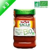 Condiments - Sauces - Aides Culinaires SACLA Sauce tomates et légumes - 212 ml x3 - Bio