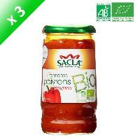 Condiments - Sauces - Aides Culinaires SACLA Sauce tomates et poivrons - 370 ml x3 - Bio
