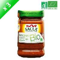 Condiments - Sauces - Aides Culinaires SACLA Sauce tomates séchées et ail - Bio - 3x 212 ml