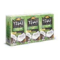 Condiments - Sauces - Aides Culinaires THAI KITCHEN Lait de coco Tetrapack sans additifs - 3 x 250 ml Aucune