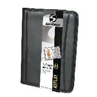 Conferencier SAVEBAG Conférencier porte-tablette REPLAY format A4 - Spécial gaucher - Noir