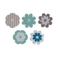 Confettis - Canon A Confettis  TOGA Pack de 25 Confettis Bois Fleurs - Bleu et taupe