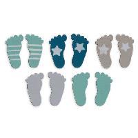 Confettis - Canon A Confettis  TOGA Pack de 26 Confettis Bois Pieds - Bleu et taupe