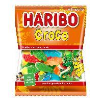 Confiserie 30x Bonbons gelifies Haribo Croco sachet de 40g