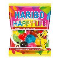 Confiserie 30x Bonbons gelifies Haribo Happy Life sachet de 40g