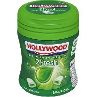 Confiserie 6x Chewing-Gum Hollywood 2 fresh Chlorophylle menthe 51g Paris Hollywood