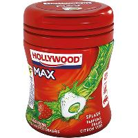 Confiserie 6x Chewing-Gum Hollywood Max Fraise-Citron vert 51g Paris Hollywood