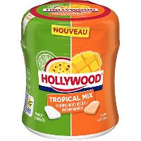 Confiserie 6x Chewing-Gum Hollywood Tropical Mix 87g Paris Hollywood