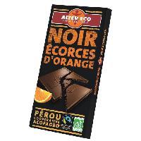 Confiserie ALTER ECO Chocolat Noir Ecorces d'Orange - Bio - 100 g