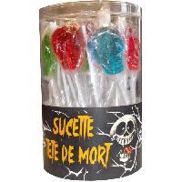 Confiserie BRABO Bonbons Tubo Tetes de Mort 40 Sucettes