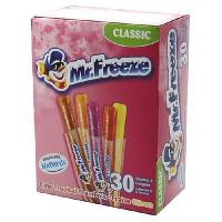 Confiserie BRABO Sucettes a congeler Cool Pop Mr Freeze Classic. goût assortis - 600 ml
