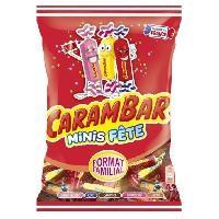 Confiserie Bonbons Minis Fete. parfums - barbe a papa. cola. caramel. framboise et peche - 326 g
