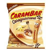 Confiserie CARAMBAR Bonbons Caragourmand. parfums : vanille. caramel pointe de sel et chocolat-noisette - 250 g