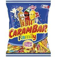 Confiserie CARAMBAR Bonbons Family. parfums : cola. fraise. citron. caramel et caranougat - 450 g