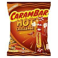 Confiserie CARAMBAR Bonbons Hot Challenge. parfums : mangue pimentée et passion pimentée - 220 g