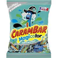 Confiserie CARAMBAR Bonbons Magicolor. parfums : cola. banane et cassis - 220 g