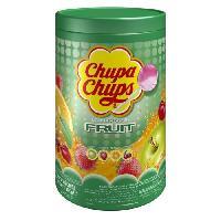 Confiserie CHUPA CHUPS Tubo de 100 sucettes Fruits - Parfums pomme. fraise. orange et cerise