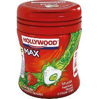 Confiserie Chewing-Gum Hollywood Max Fraise-Citron vert 51g