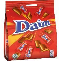 Confiserie DAIM Chocolat au lait fourré au caramel croquant - 200 g - Aucune