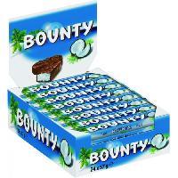 Confiserie De Chocolat - Barre Chocolatee BOUNTY Pack de barres chocolatees de noix de coco - 24x 57 g