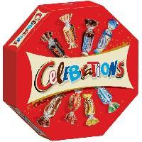 Confiserie De Chocolat - Barre Chocolatee Bonbons assortis Celebrations en boite octogonale - 385 g