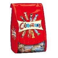 Confiserie De Chocolat - Barre Chocolatee Bonbons assortis Celebrations en sachet - 365 g