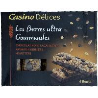 Confiserie De Chocolat - Barre Chocolatee CASINO DELICES Barres Chocolat Noir - 140g