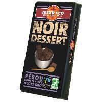 Confiserie De Chocolat - Barre Chocolatee Chocolat Noir Dessert Bio 200g
