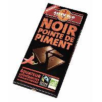 Confiserie De Chocolat - Barre Chocolatee Chocolat Noir Pointe de Piment Bio 100g