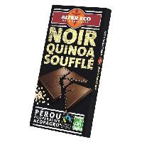 Confiserie De Chocolat - Barre Chocolatee Chocolat Noir Quinoa Souffle Bio 100g