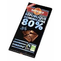 Confiserie De Chocolat - Barre Chocolatee Chocolat Noir Republique Dominicaine 80 Bio 100g - Alter Eco