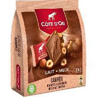 Confiserie De Chocolat - Barre Chocolatee Côte d'Or Carrés Lait Noisettes 10x20g - Cote D'or