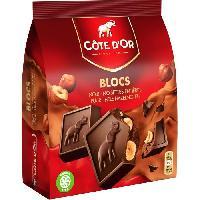 Confiserie De Chocolat - Barre Chocolatee Côte d'Or Carrés Noir Noisettes 10x20g - Cote D'or