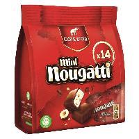 Confiserie De Chocolat - Barre Chocolatee Cote d'Or Mini Nougatti 180g